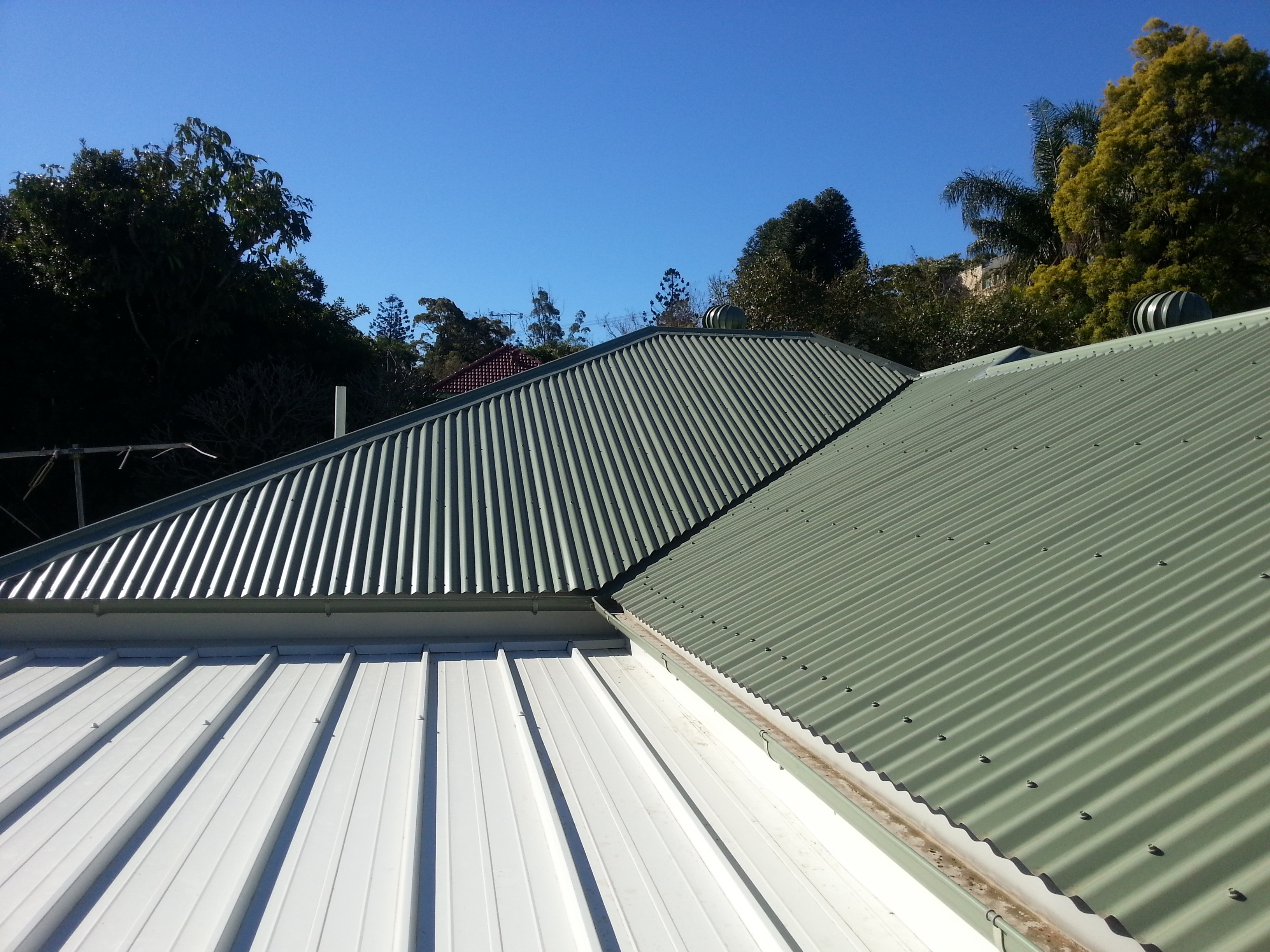 Reroof of the main roof and extension