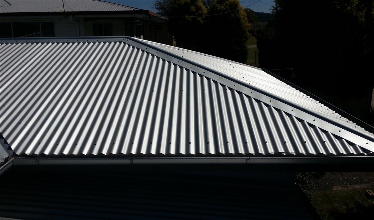 Metal reroof to main roof