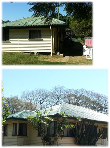 Fibro roof restoration before and after