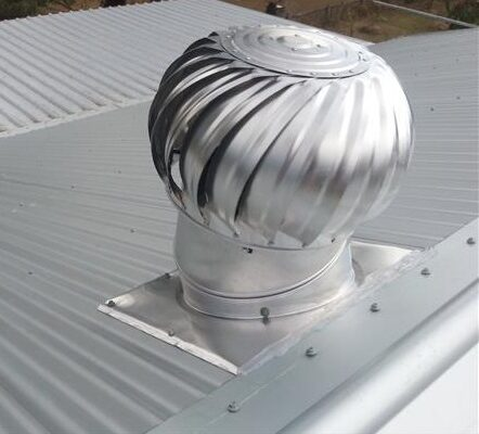 Whirly bird / air vents helps to reduce heat and the moisture build up in the roof cavity.