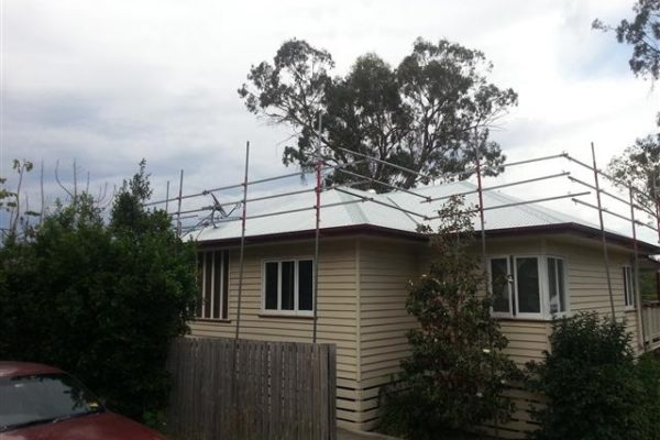 Metal reroof nearly completed