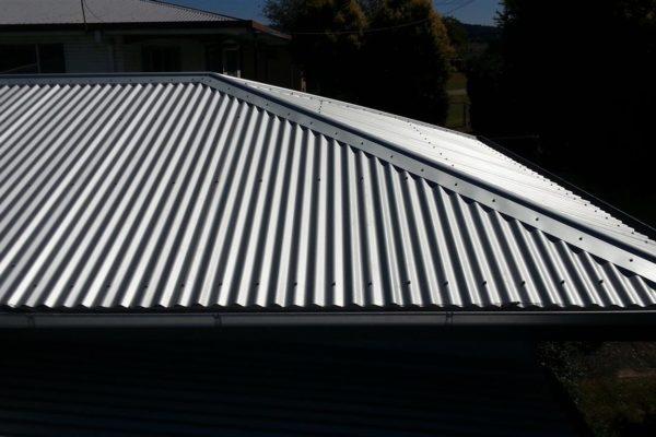 Metal reroof to main roof