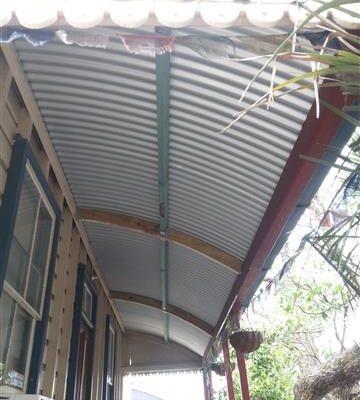 Curved verandah roof - metal reroof