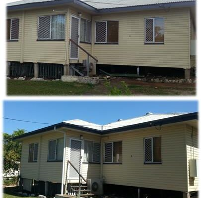 Full regutter and fascia painting before and after